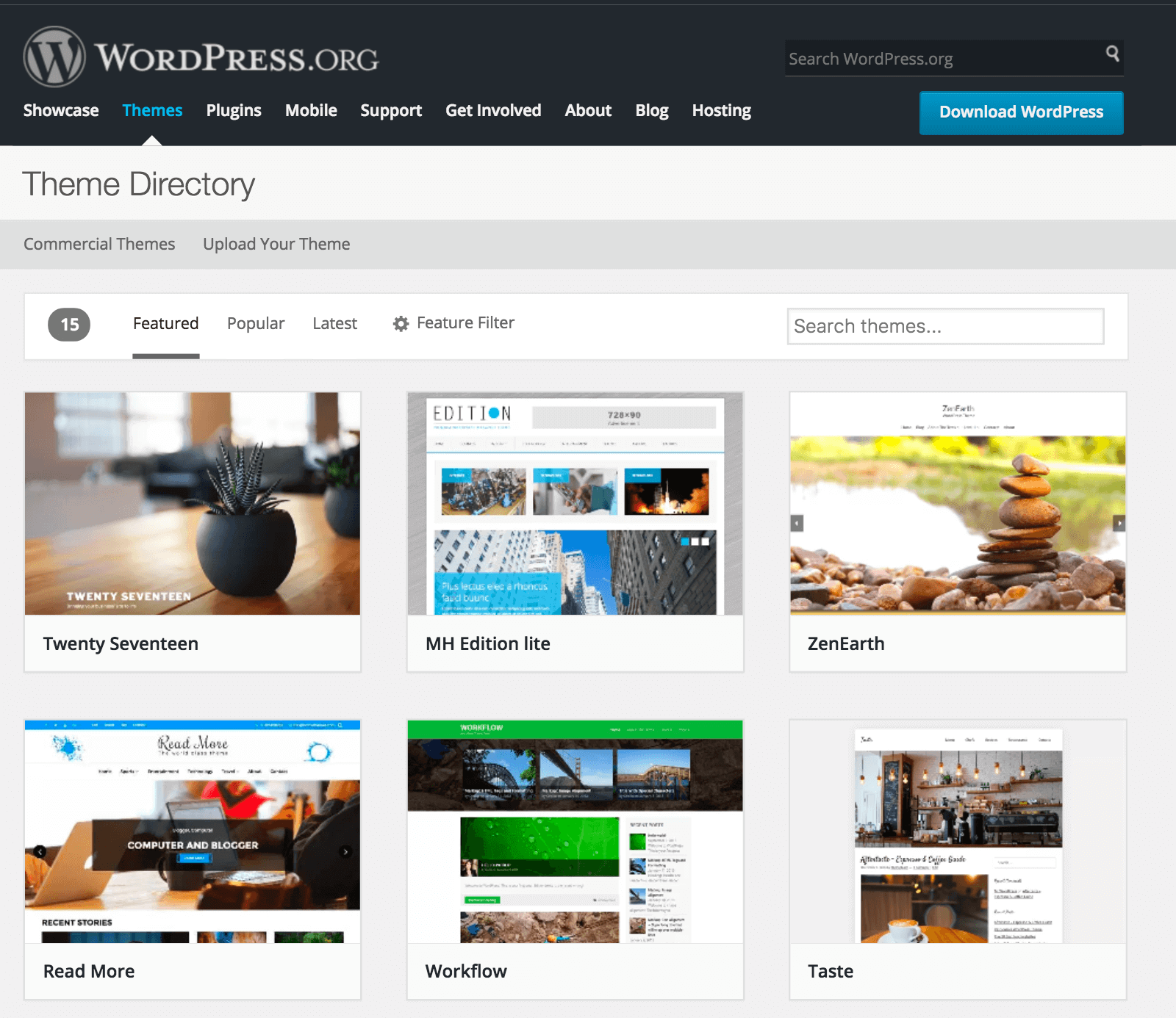 Official WordPress Theme Directory - BlogTipsTricks