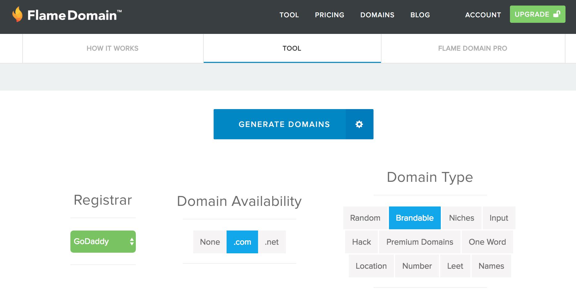 FlameDomain Brand name generator - BlogTipsTricks