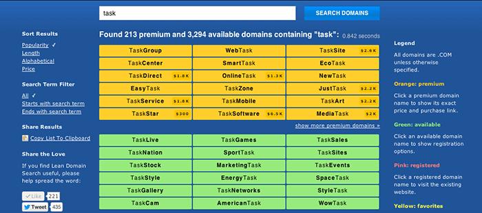 LeanDomain Search Domain generator - BlogTipsTricks