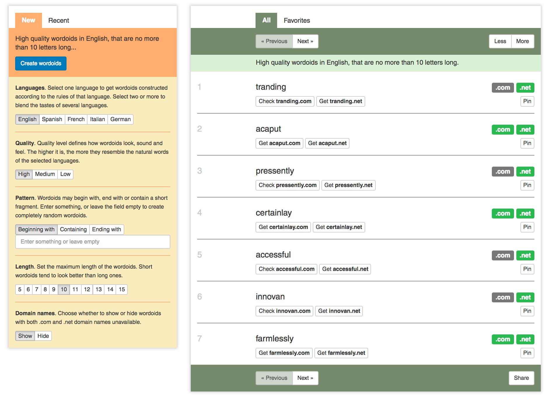 Wordoid Domain Generator - BlogTipsTricks