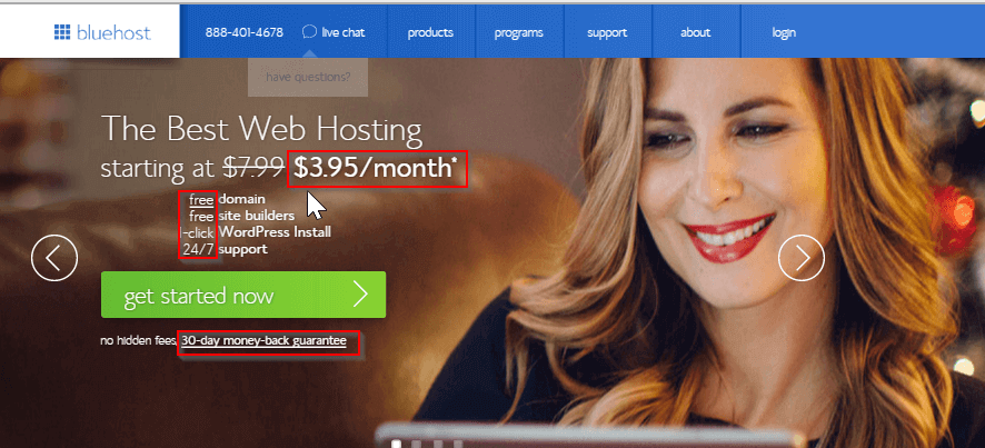 bluehost best wordpress hosting - BlogTipsTricks