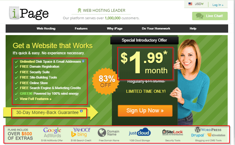 ipage wordpress hosting - BlogTipsTricks
