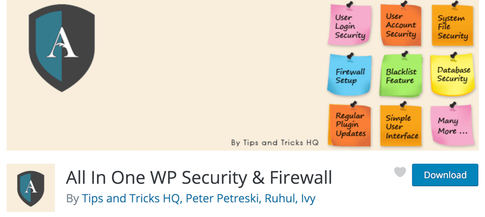 All In One WP Security Firewall - BlogTipsTricks