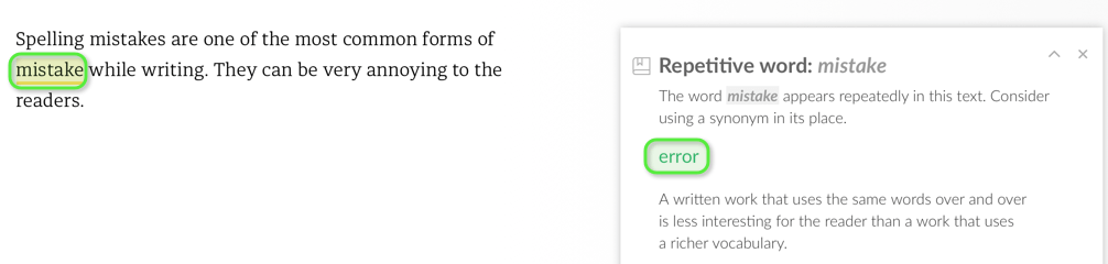 Grammarly Repetitive Words Suggestion - BlogTipsTricks