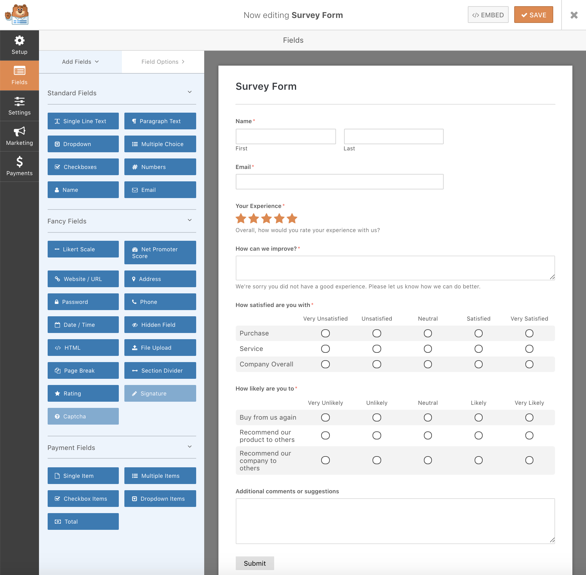 WPForms Survey Form Builder - BlogTipsTricks